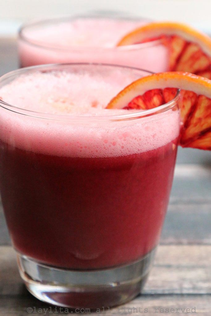 Blood orange sour cocktail