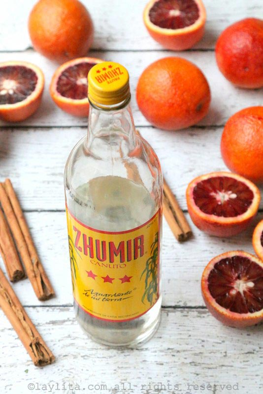 Ecuadorian aguardiente to make a warm spiced cocktail