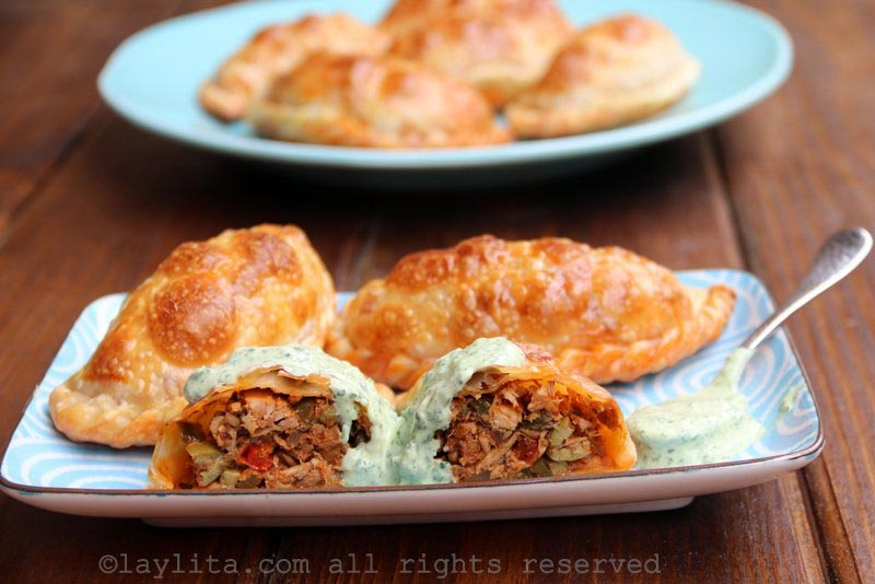 Empanadas filled with tuna fish picadillo