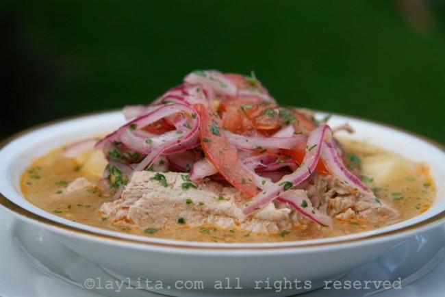 Encebollado de pescado fish soup