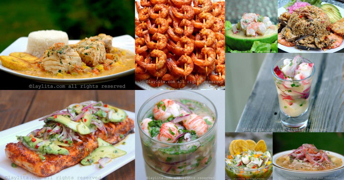 Fish and seafood recipes *with a Latin touch*