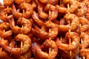 Latin style grilled shrimp skewers