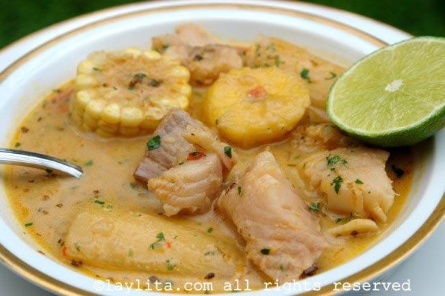 Viche de pescado fish soup