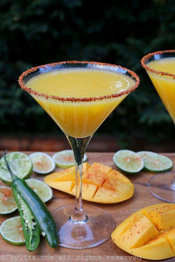 Spicy lime and mango margarita