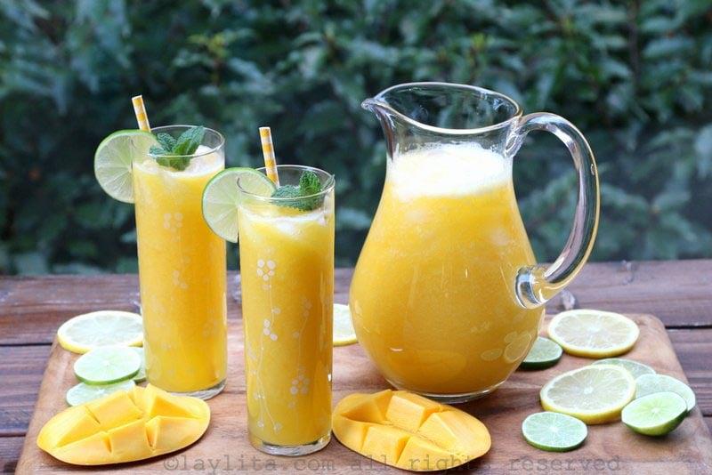 Mango lemonade or mango limeade