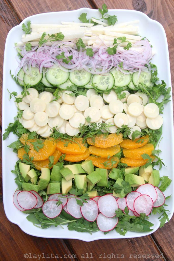 Latin chopped salad with hearts of palm