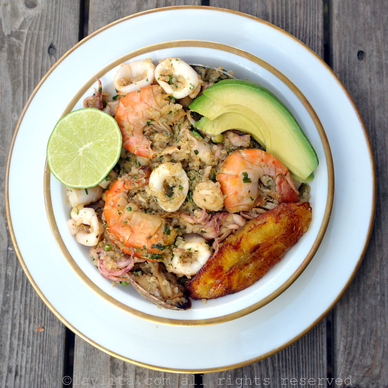 Quinoa marinera or seafood quinua recipe