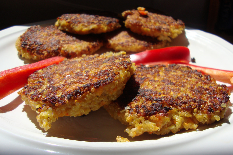 Recipe for vegetarian quinoa patties