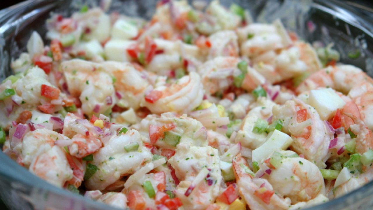Shrimp Salad With Cilantro Mayonnaise