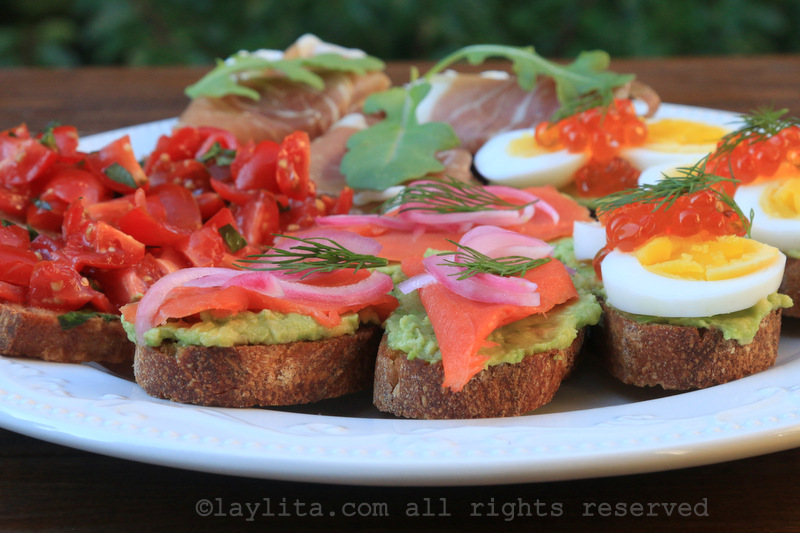 Tartines and crostini appetizer recipes