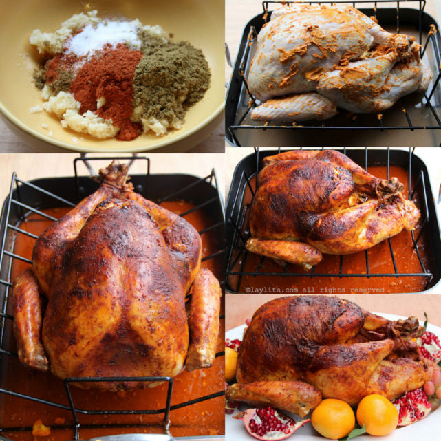 Achiote marinated Christmas turkey recipe