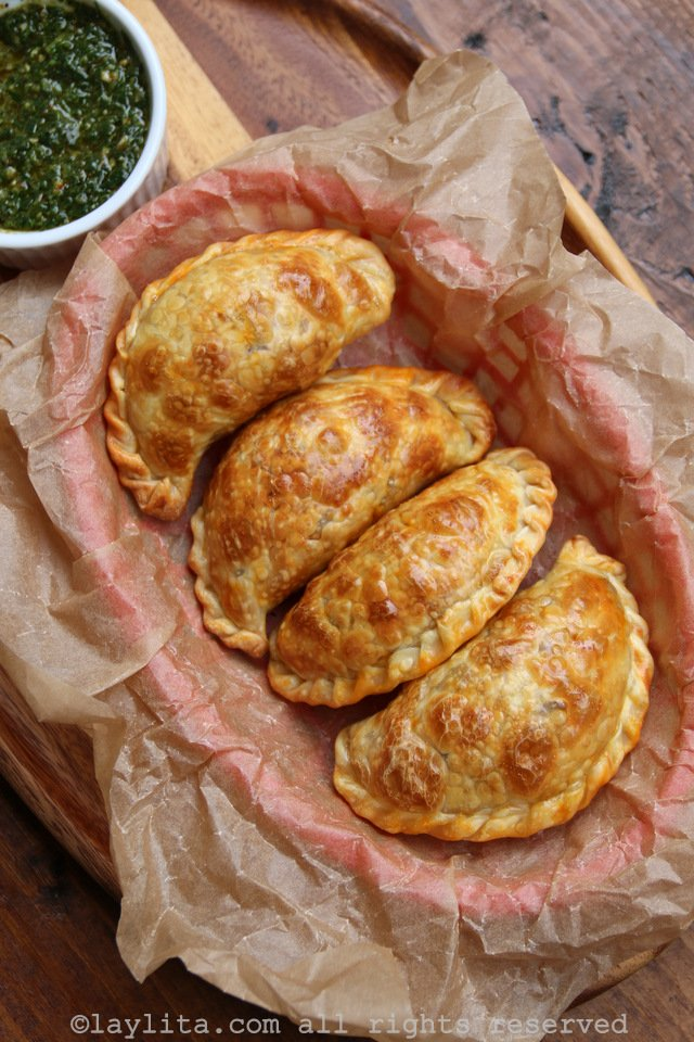 Empanadas filled with meat or beef