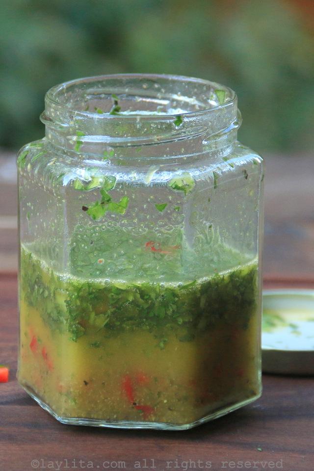 Spicy orange vinaigrette salad dressing recipe