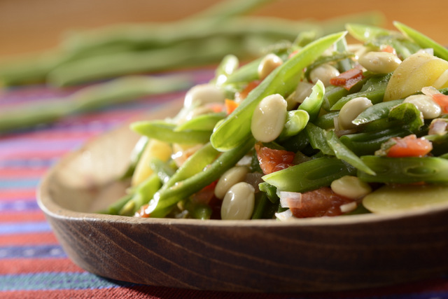 Green bean salad with chochos