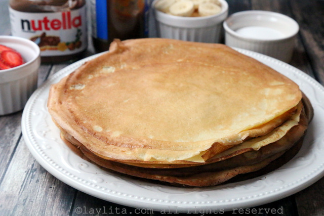 Simple and easy French crepes