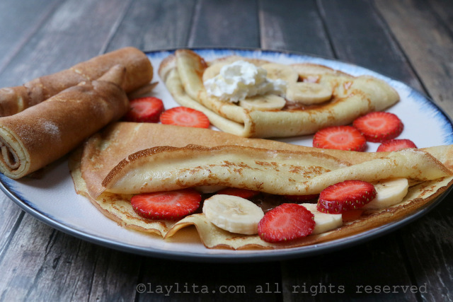 Recipe for sweet crepes