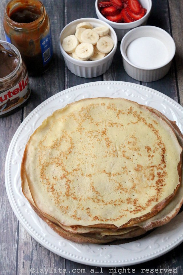 Sweet crepes topping ideas