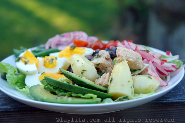 Latin inspired tuna nicoise salad recipe