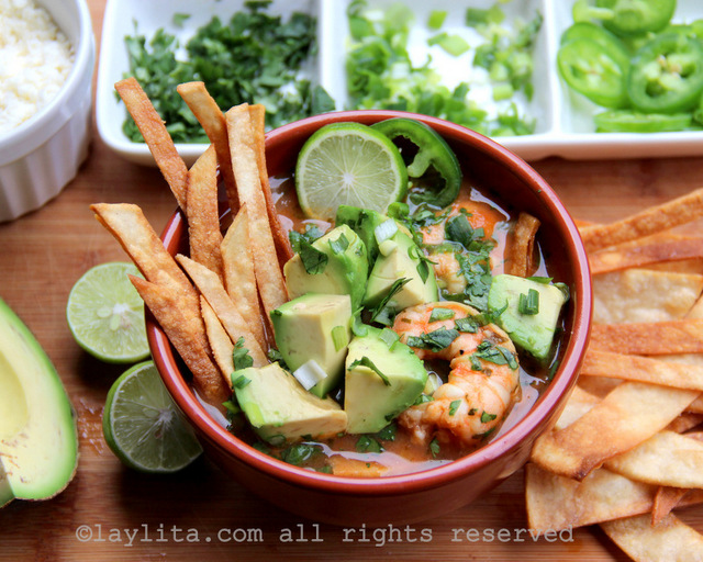 Shrimp tortilla soup recipe for Lent