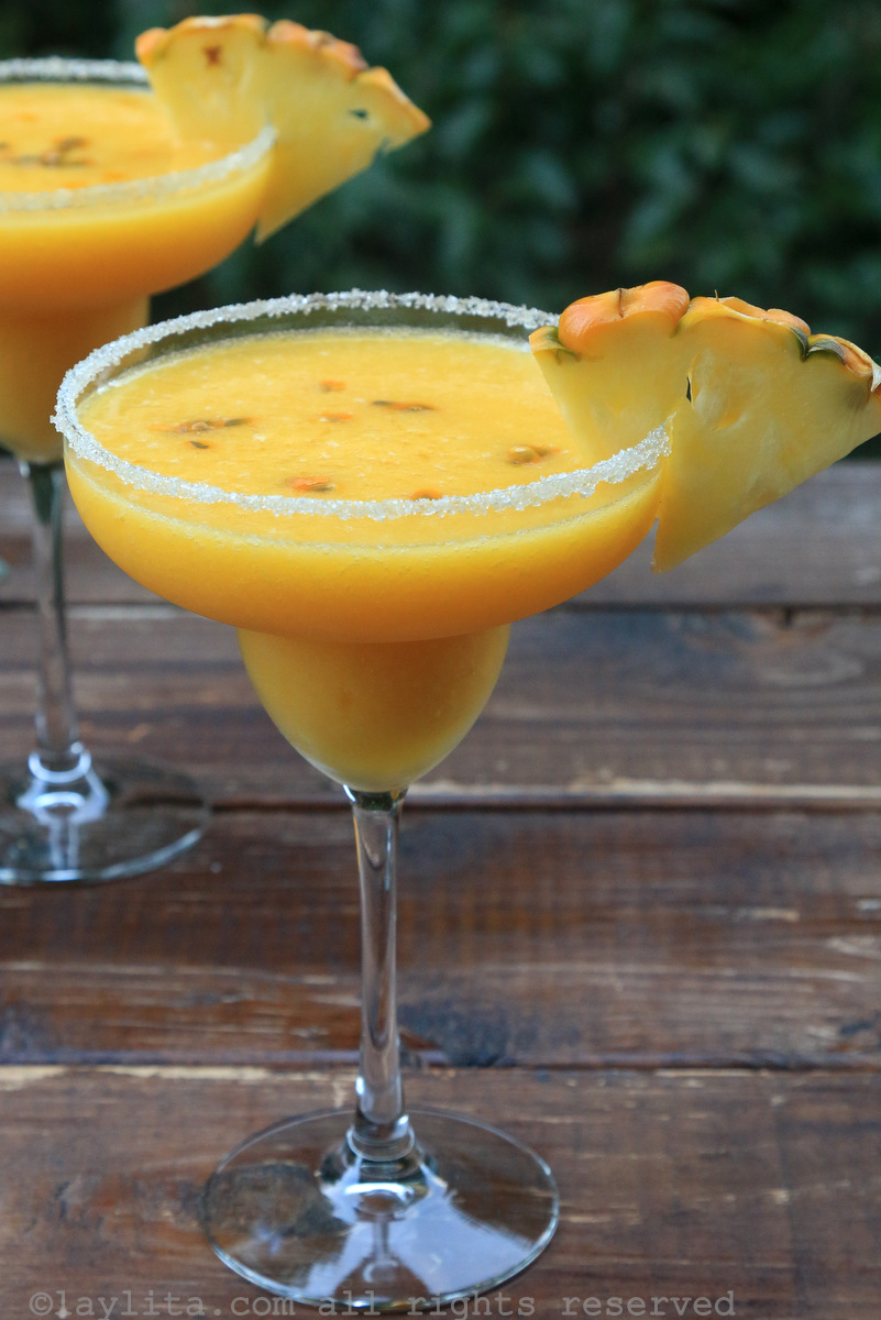 Pineapple tropical margaritas