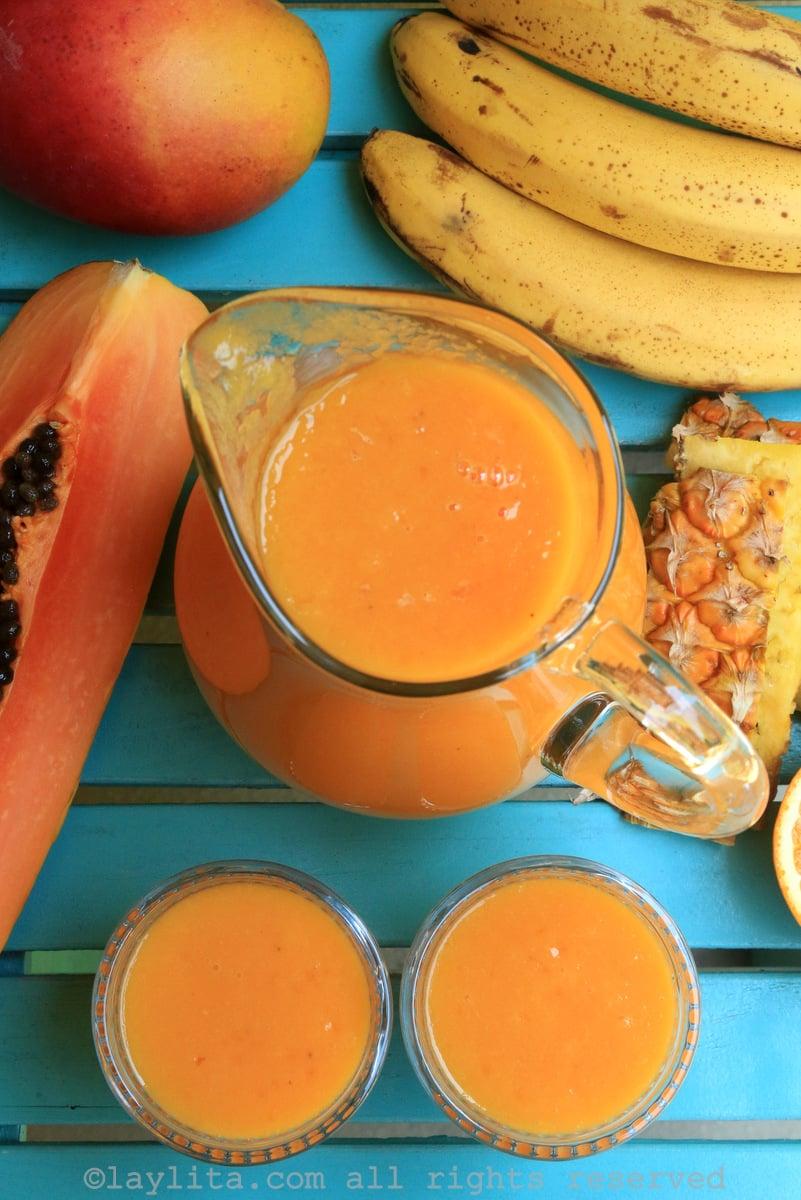 Ecuadorian inspired tropical fruit smoothie