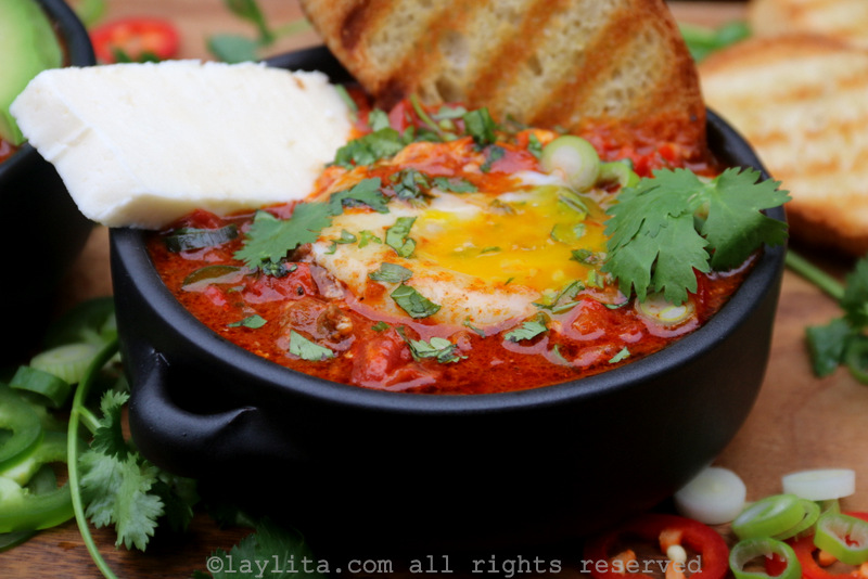 Shakshuka with queso fresco
