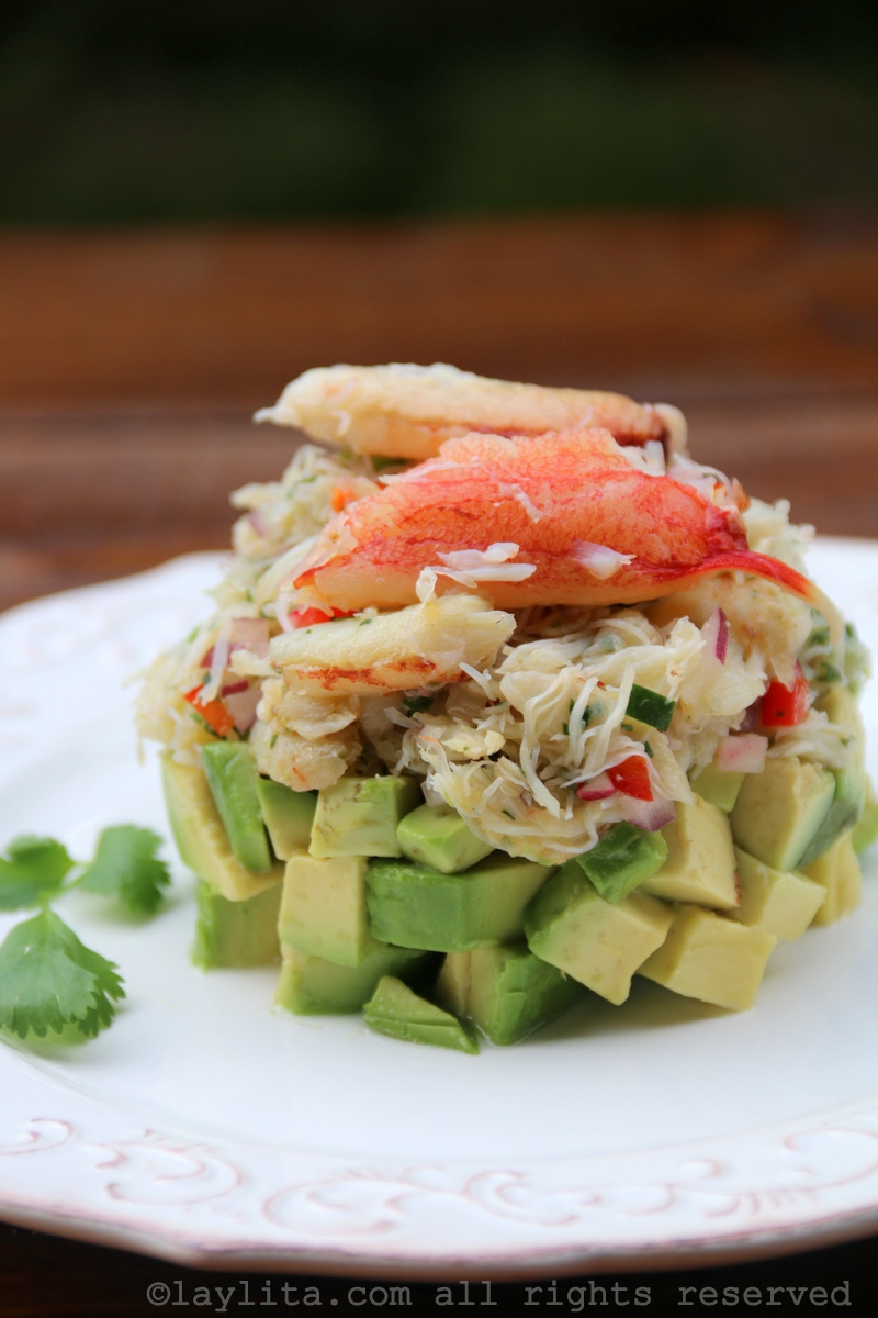 Avocado crab stack