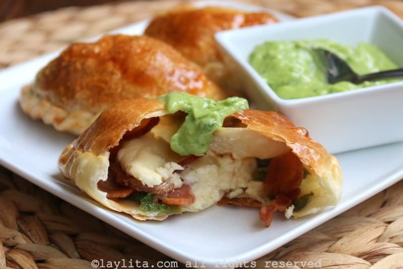 Bacon jalapeño cheese empanadas
