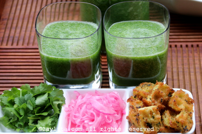 Chilled cucumber soup or cucumber gazpacho recipe