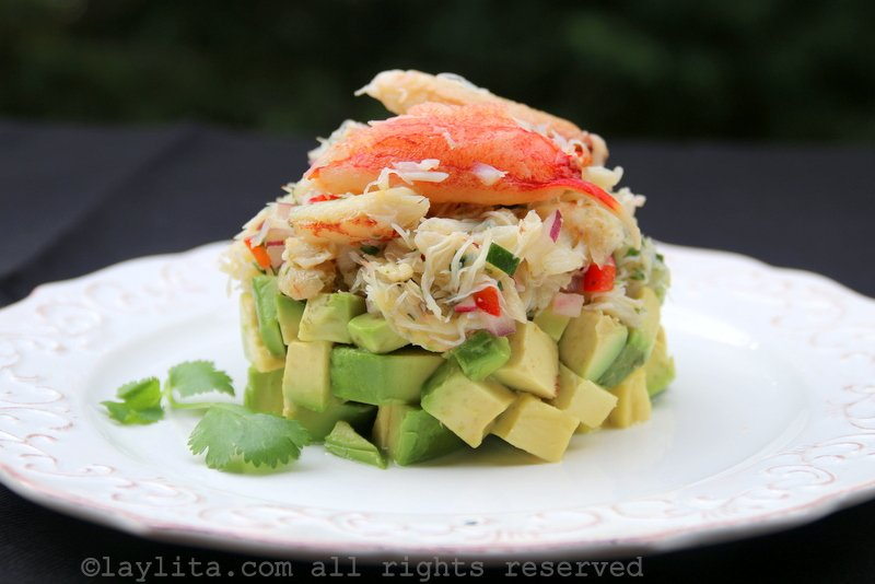 Crab avocado stack salad recipe