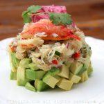 Recipe for crab and avocado stack salads