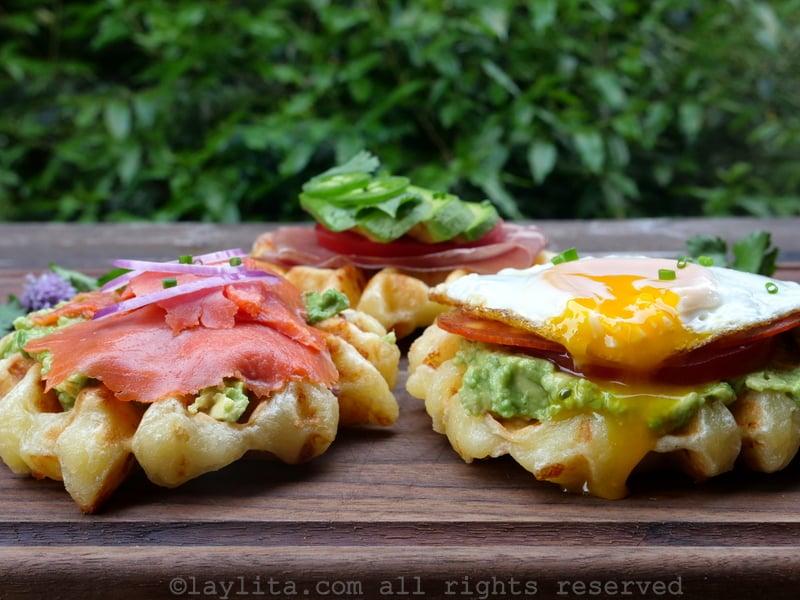 Savory cassava cheese bread waffles