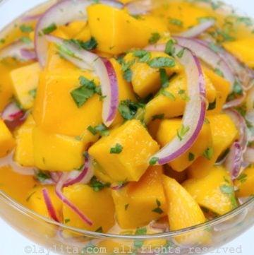 Vegetarian mango ceviche recipe