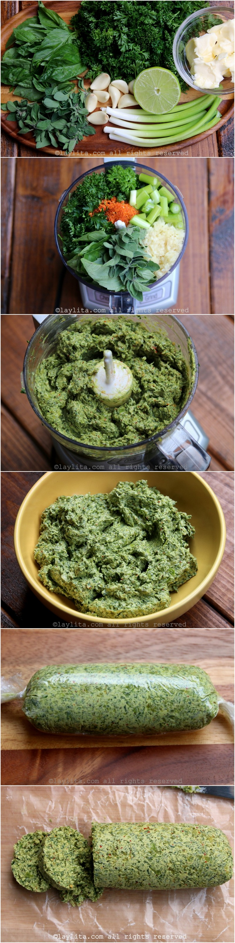 Chimichurri butter preparation