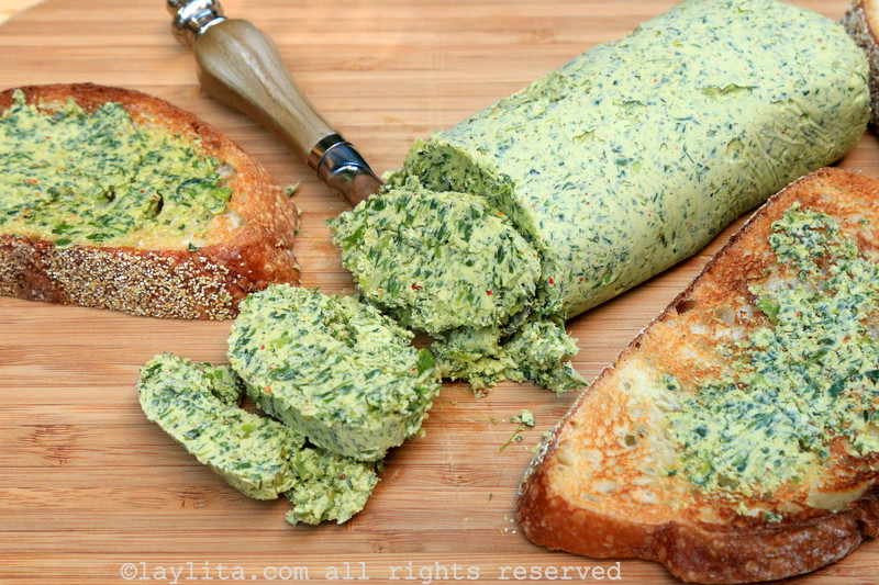 Garlic herb chimichurri compound butter