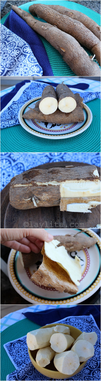 How to peel fresh manioc or cassava - yuca root