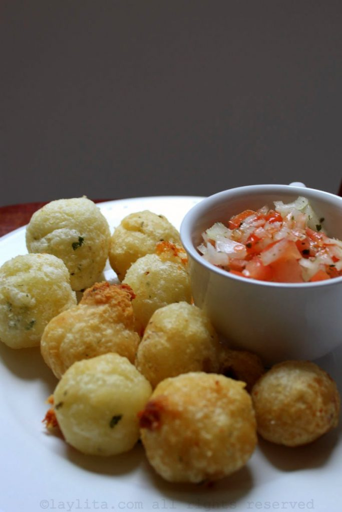 Manioc or cassava balls filled with cheese