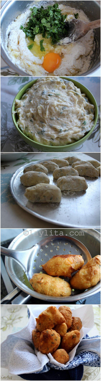 Preparation for Brazlian bolinhos or manioc balls
