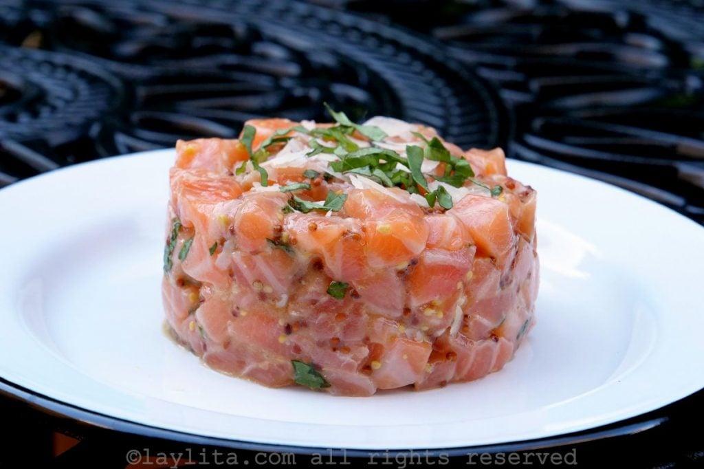French style salmon tartare