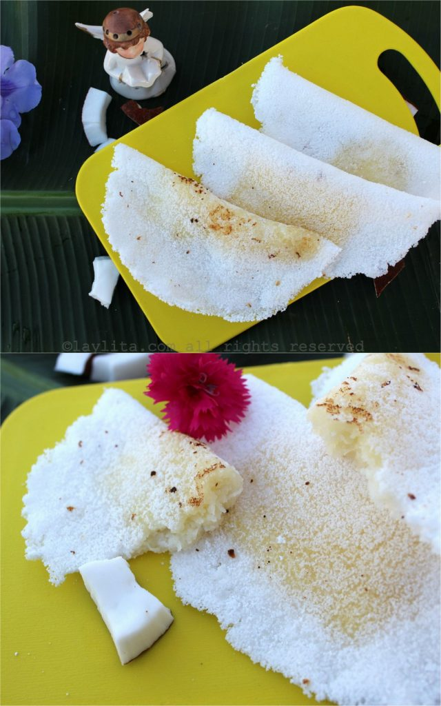 Brazilian manioc or tapioca crepes