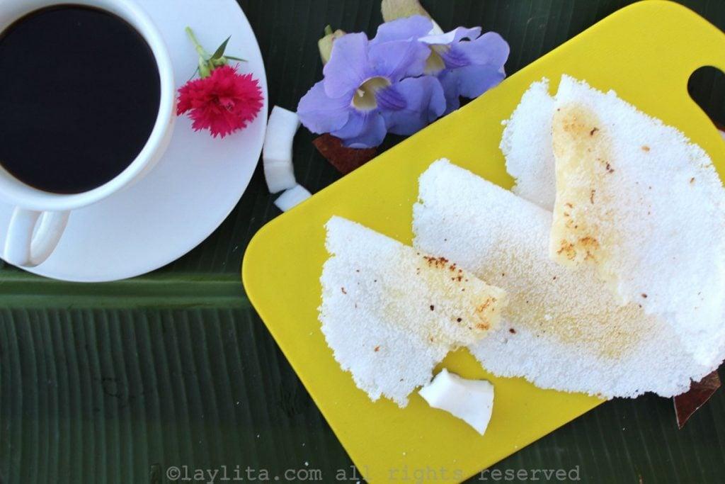 Gluten free tapioca crepes