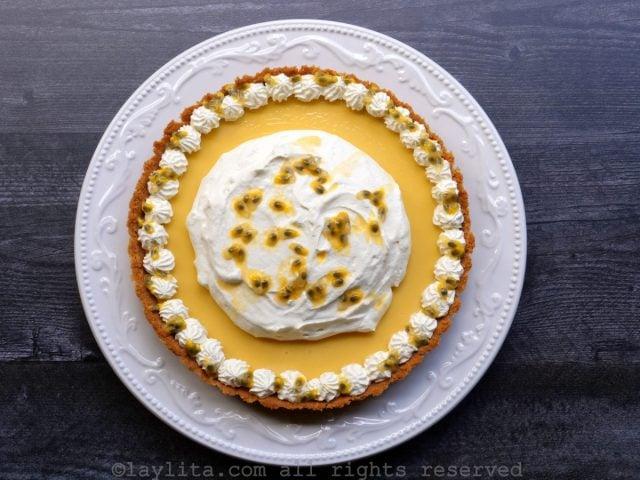Passion fruit pie recipe using cookie crumb crust