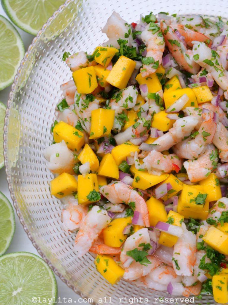 Mango shrimp ceviche