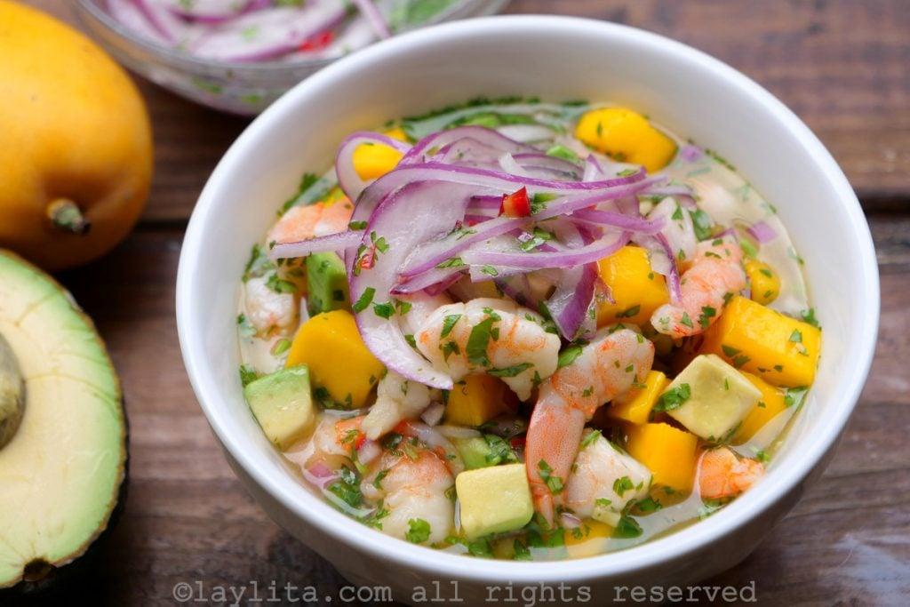 Shrimp and mango ceviche recipe