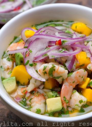 Shrimp and mango ceviche recipe