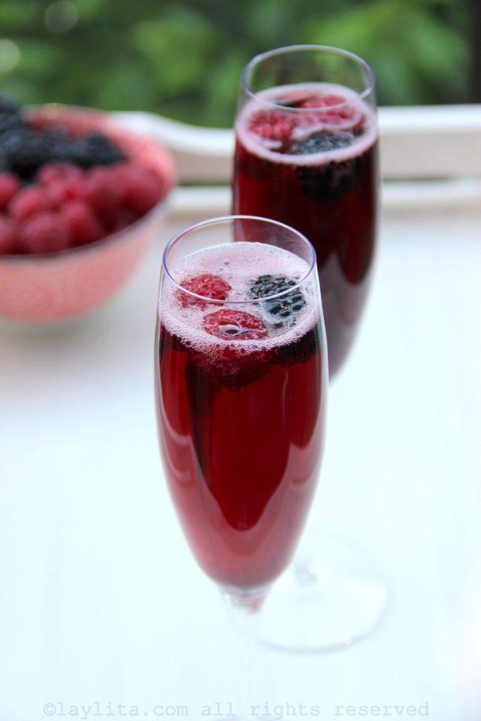 French kir royal aperitif cocktail recipe