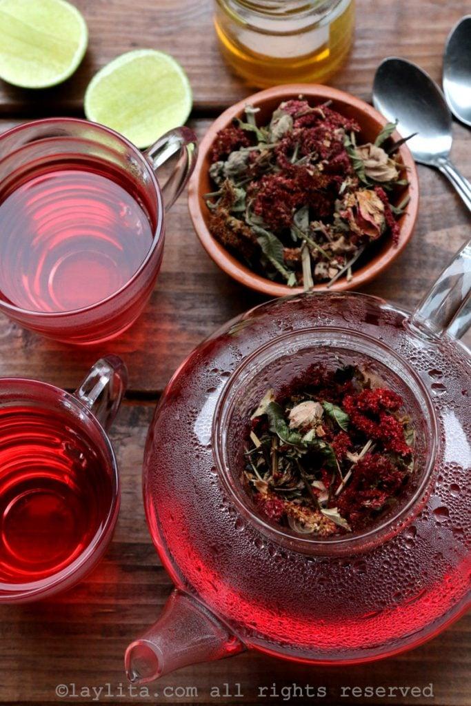 Horchata lojana herbal tea preparation