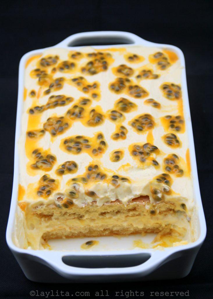 Passion fruit tiramisu recipe for Mother's Day