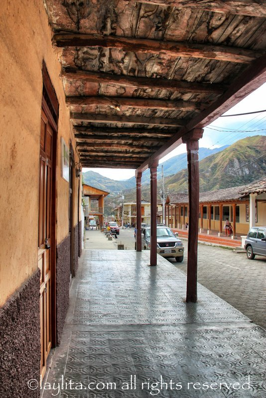 One of the main streets in Vilcabamba
