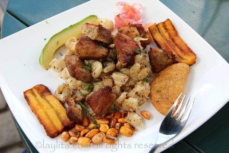 Eating pork fritada in Ecuador - Laylita's Travels